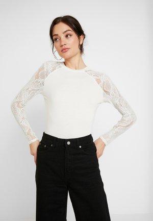 ONLDEBORAH LACE MIX - T-shirt à manches longues - cloud dancer