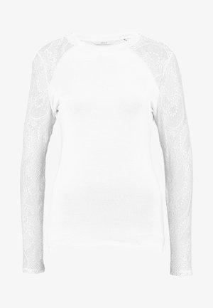ONLDEBORAH LACE MIX - Långärmad tröja - cloud dancer