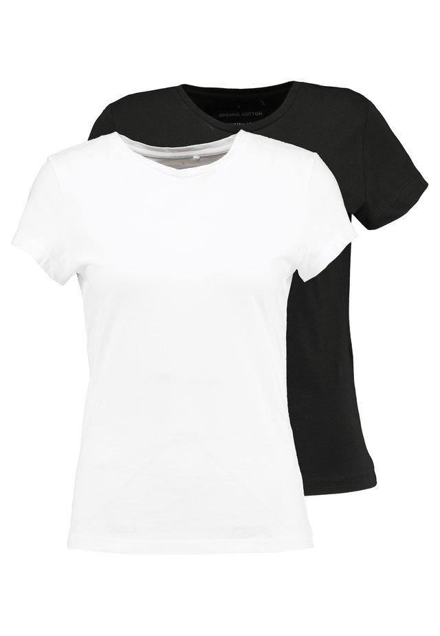 ONLPURE LIFE 2PACK - Camiseta básica - black/white