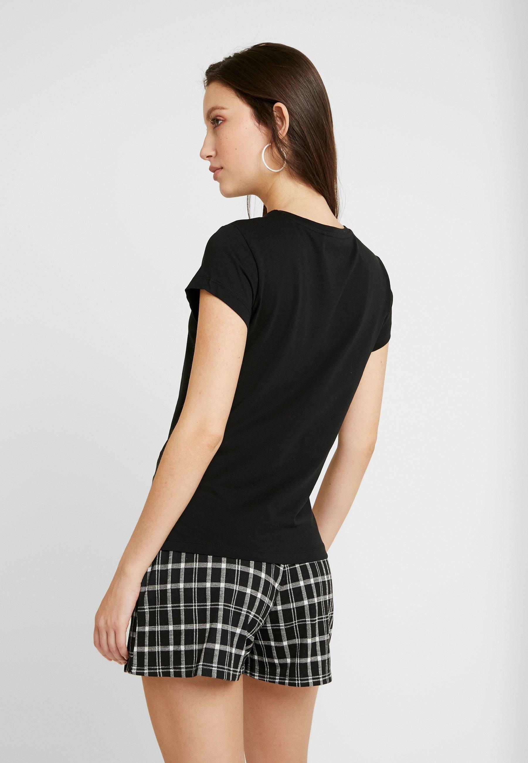 Only Onlpure Life 2pack - Basic T-shirt Black/white