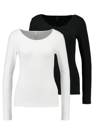 ONLLIVE LOVE O-NECK 2PACK - Langarmshirt - black/white