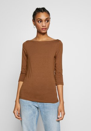 ONLAYA BOATNECK TOP - Topper langermet - argan oil