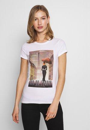 ONLCINDY FIT BOX - T-shirt imprimé - bright white
