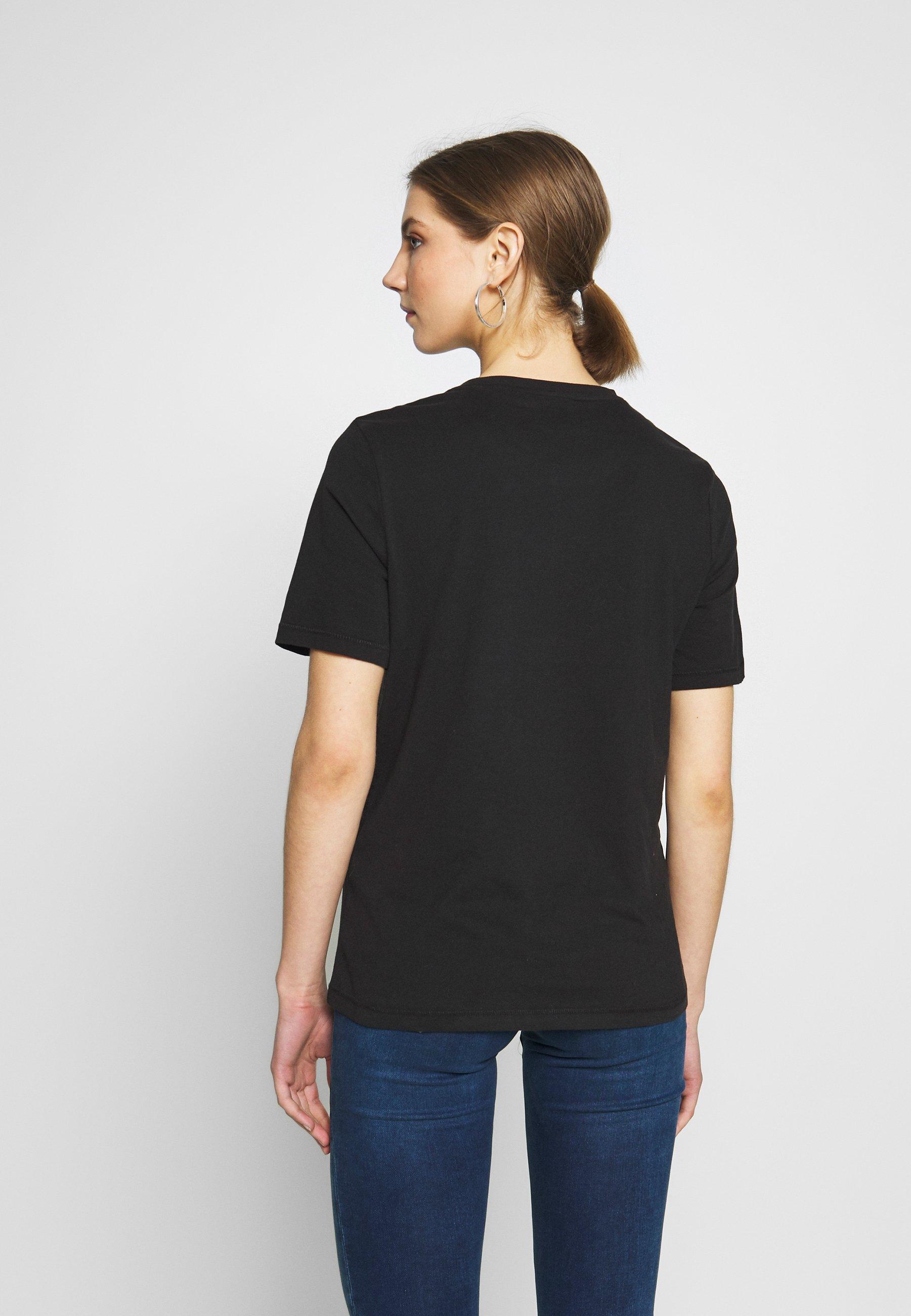 Only Onlmode Boxy - Print T-shirt Black