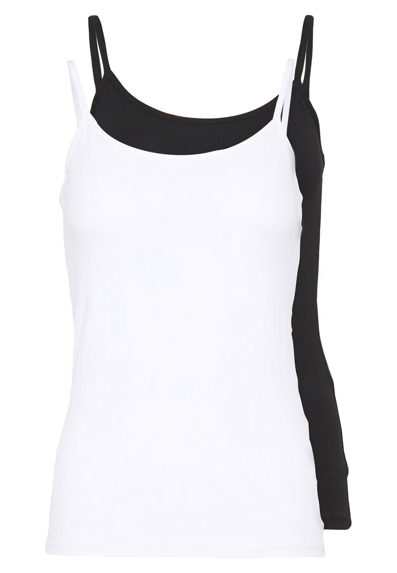 ONLY - ONLLOVE SINGLET 2PACK - Top - black/white