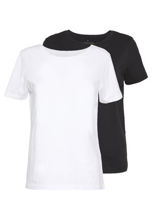 ONLPURE LIFE O-NECK 2PACK - Camiseta básica - bright white/black