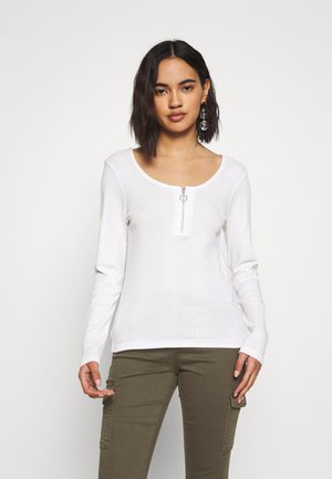 ONLRENI LIFE ZIP  - Long sleeved top - cloud dancer