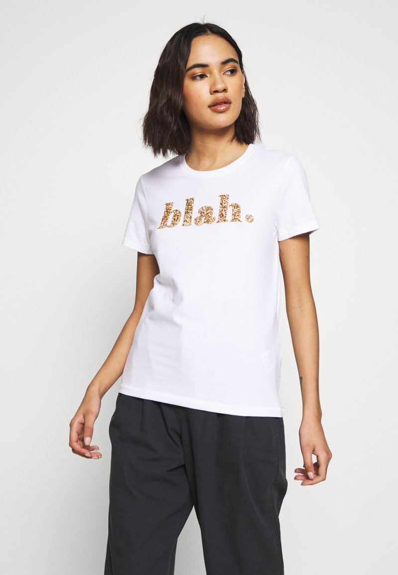 ONLY - ONLGITA REG BOX - Print T-shirt - bright white