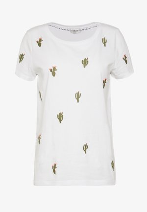 ONLKITA BOOSTER - T-Shirt print - white/cactus