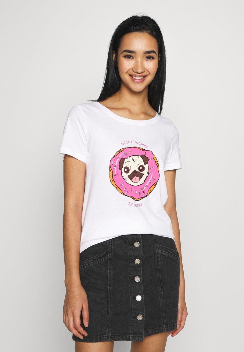 ONLY - ONLKITA BOOSTER - Print T-shirt - white