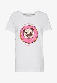 ONLY - ONLKITA BOOSTER - Print T-shirt - white - 3
