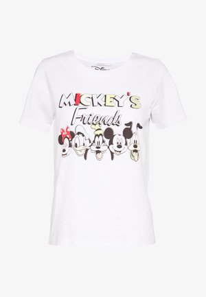 ONLDISNEY MIX  - T-Shirt print - white/mickeys friends