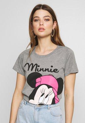 ONLDISNEY MIX  - Camiseta estampada - medium grey melange/minnie