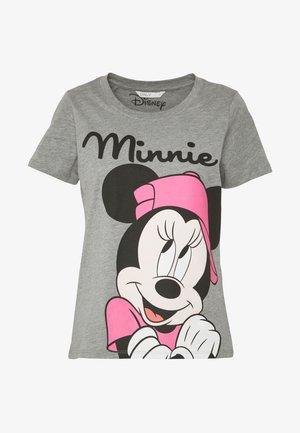 ONLDISNEY MIX  - Print T-shirt - medium grey melange