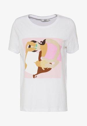 ONLTHEA - T-shirt print - white