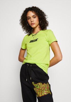 ONLBILLIE EILISH LOGO TOP - T-shirt print - neon green