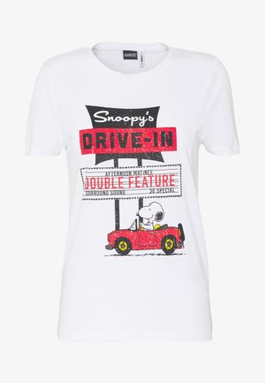 ONLPEANUTS LIFE - T-shirt con stampa - bright white/drive