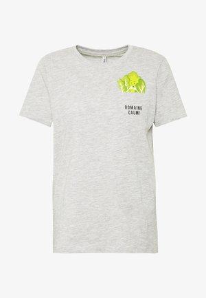ONLPOLLY LIFE - Camiseta estampada - light grey