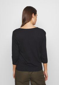 ONLY - ONLROSELY LIFE 3/4 PLACKET  - T-shirt à manches longues - black/solid - 2