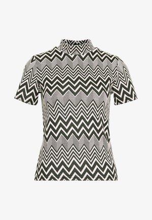 ONLVIGGA HIGHNECK  - T-shirts med print - cloud dancer/black