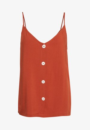 ONLNOVA LIFE BUTTON SINGLET SOLID - Top - arabian spice