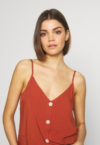 ONLY - ONLNOVA LIFE BUTTON SINGLET SOLID - Top - arabian spice - 4