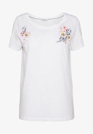 ONLKITA - T-shirt print - white/flower