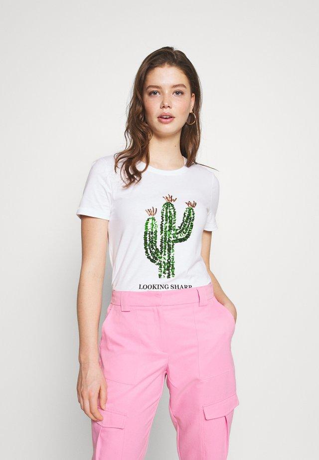ONLKITA LIFE CACTUS BOX - Camiseta estampada - bright white