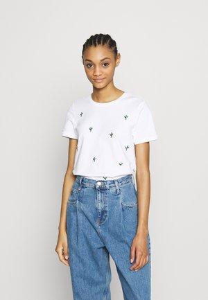 ONLKITA LIFE CACTUS BOX - T-shirt con stampa - bright white/cactus