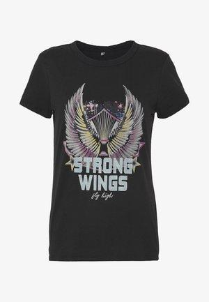ONLLUCY LIFE FIT  WINGS ACID - Print T-shirt - black