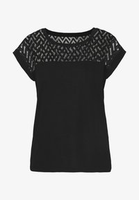 ONLY - ONLNEW NICOLE LIFE - T-shirts med print - black - 3