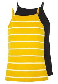 ONLY - ONLMAY LIFE STRIPE 2PACK - Top - black/golden spice - 0