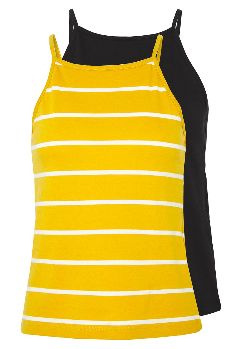 ONLY - ONLMAY LIFE STRIPE 2PACK - Top - black/golden spice