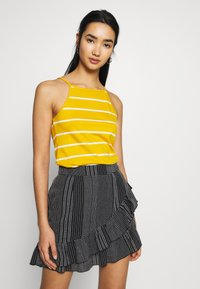 ONLY - ONLMAY LIFE STRIPE 2PACK - Top - black/golden spice - 4