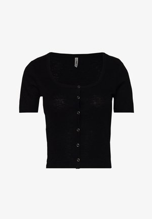 ONLGIGI LIFE BUTTON - T-shirt med print - black