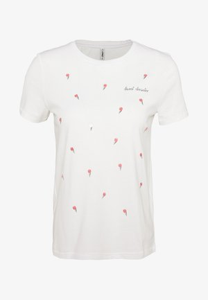 ONLKITA LIFE TOP BOX - T-shirts print - bright white