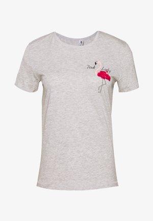 ONLKITA LIFE TOP BOX - T-shirt con stampa - light grey melange