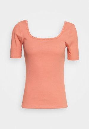 ONLDAISY LIFE - Basic T-shirt - terra cotta