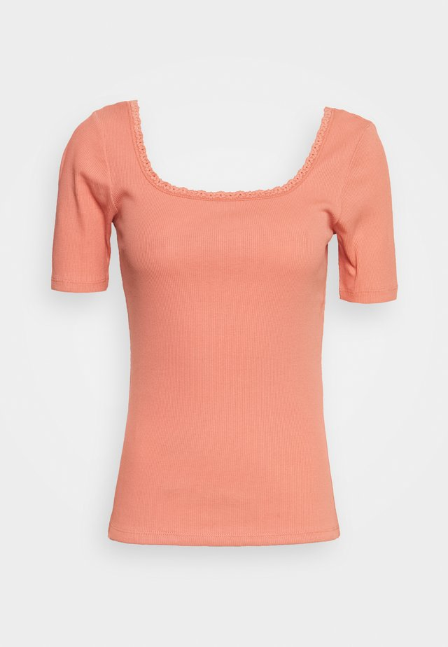 ONLDAISY LIFE - T-shirt basic - terra cotta
