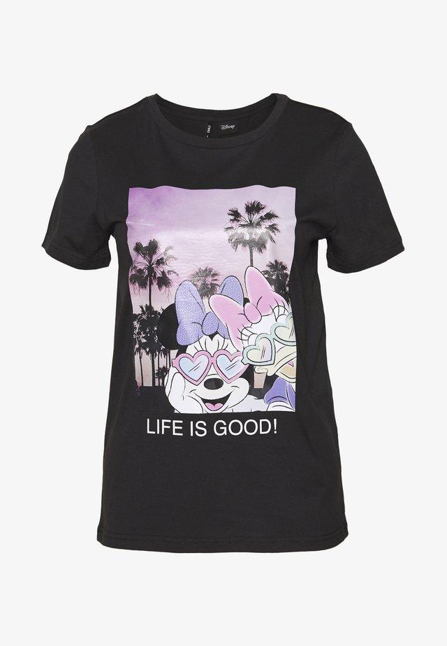 ONLDISNEY LIFE REG BOX - Camiseta estampada - phantom
