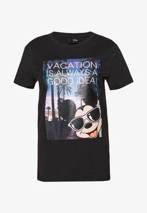 ONLDISNEY LIFE REG BOX - T-shirt z nadrukiem - black