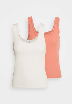 ONLDAISY LIFE 2 PACK - Top - cloud dancer/terraco