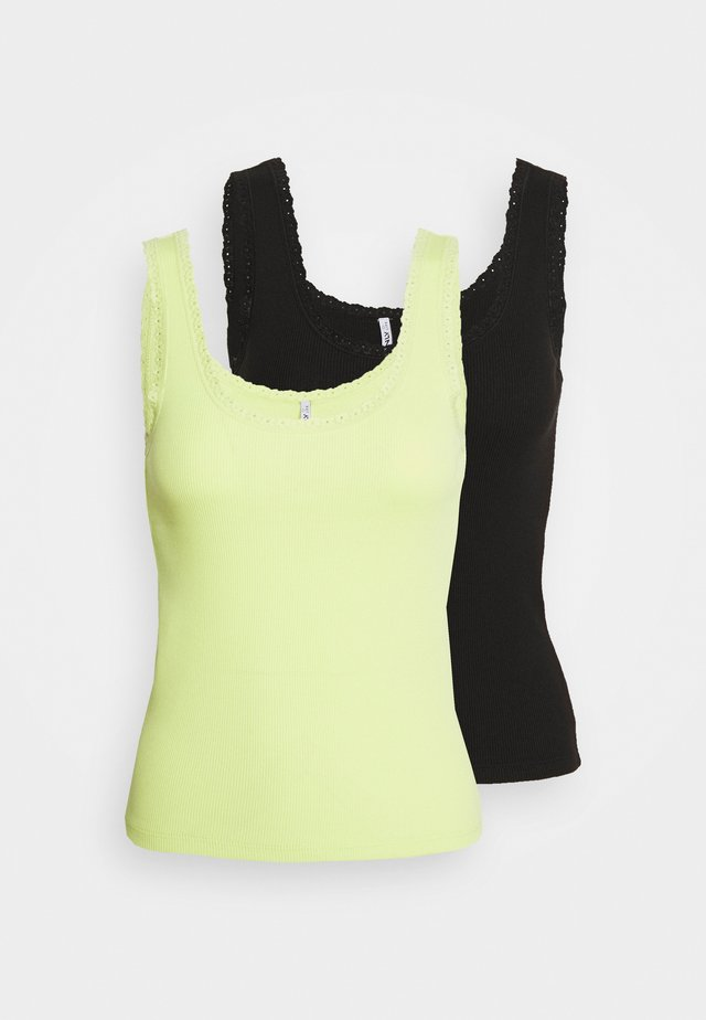 ONLDAISY LIFE 2 PACK - Top - black/sunny lime