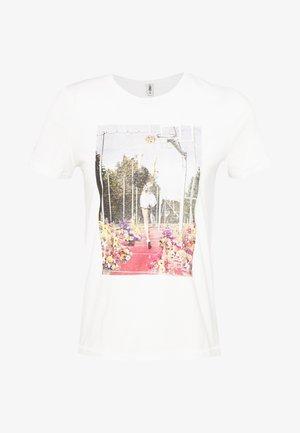 ONLPRIYA LIFE SEQUENCE TOP - T-shirts print - bright white