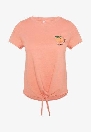 ONLFRUITY LIFE BOX - Print T-shirt - terra cotta/peach
