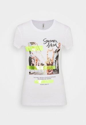 ONLNANNA  - Print T-shirt - bright white