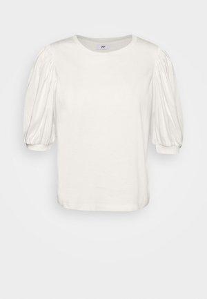 ONLSASHA PUFF - Print T-shirt - ecru