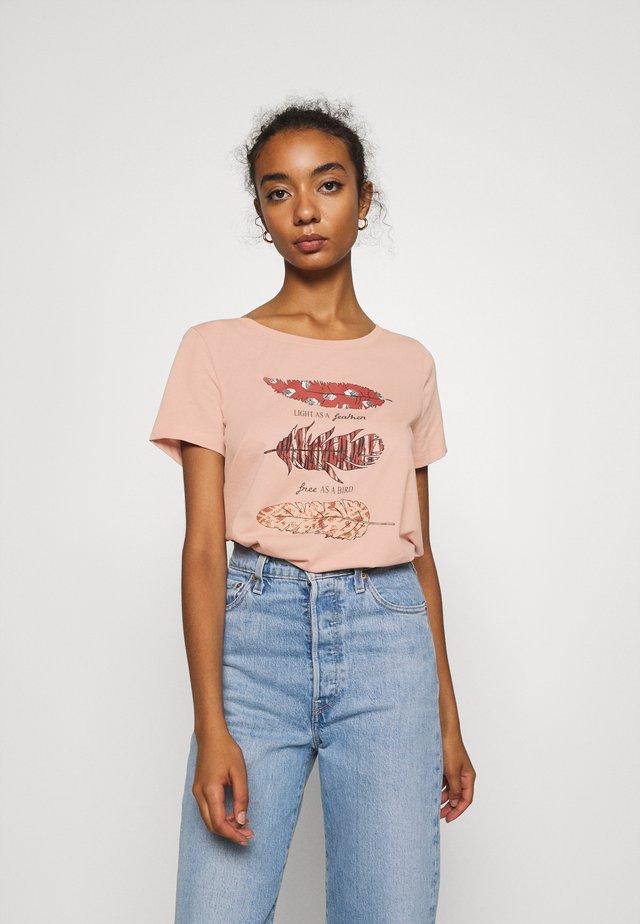 ONLKITA WILD - Camiseta estampada - misty rose