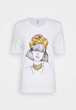 ONLVIOLET LIFE BOXY  - Print T-shirt - bright white
