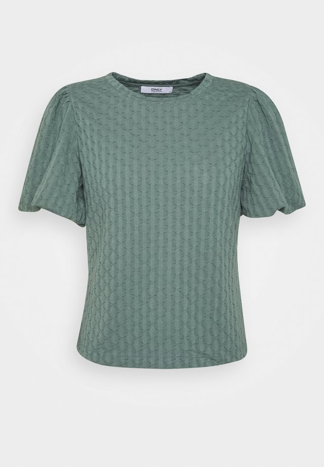 ONLRANDY PUFF SLEEVE - T-shirt print - balsam green